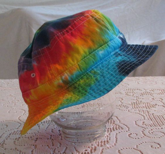 Tie Dye Adult Bucket Hat Tie Dyed by inspiringcolor on Etsy, $14.00