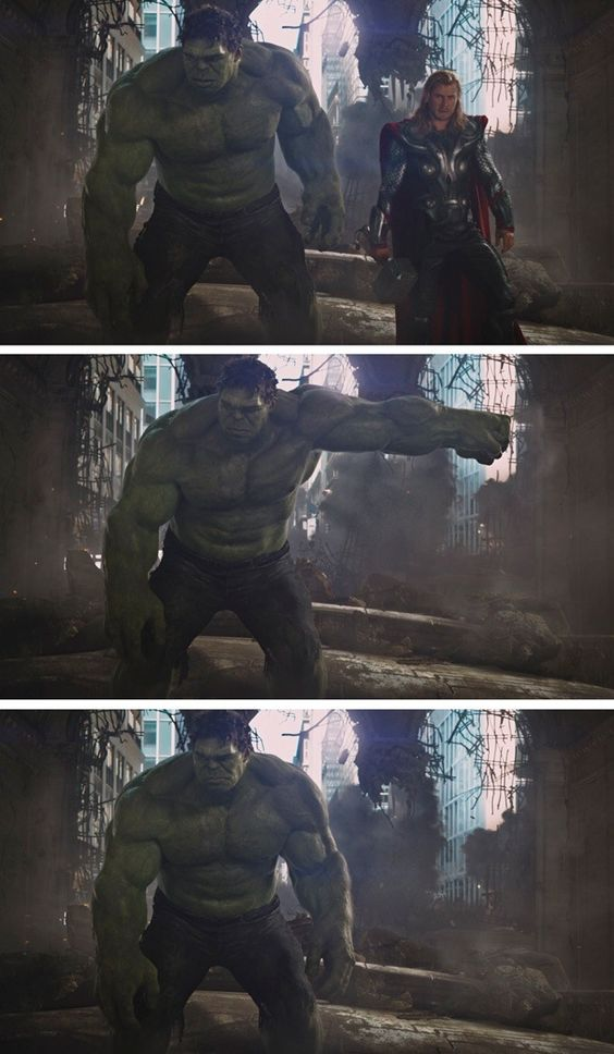 Hulk & Thor - my favorite scene in The Avengers. I'm not going to lie,  I can't help but have a thing for the hulk.