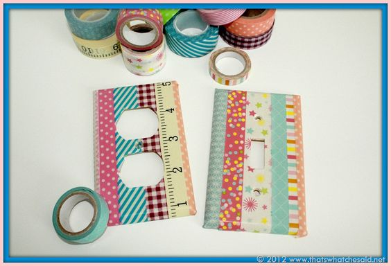 Washi Tape Light Switch & Outlet Cover: