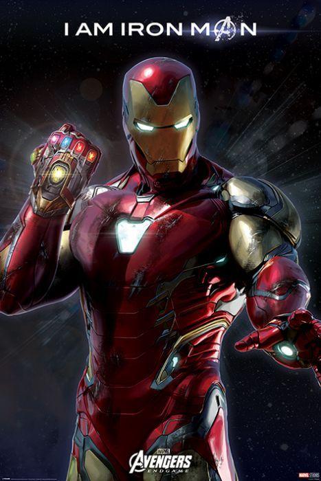 Avengers Endgame I Am Iron Man Poster 61x91 5cm In 2020 Iron Man Avengers Marvel Iron Man Iron Man