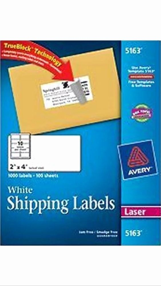 Avery Label 10 Per Page Inspirational 50 Avery 5163 8163 2 X 4 Shipping Address Labels 10 Label Templates Avery Labels Printable Label Templates