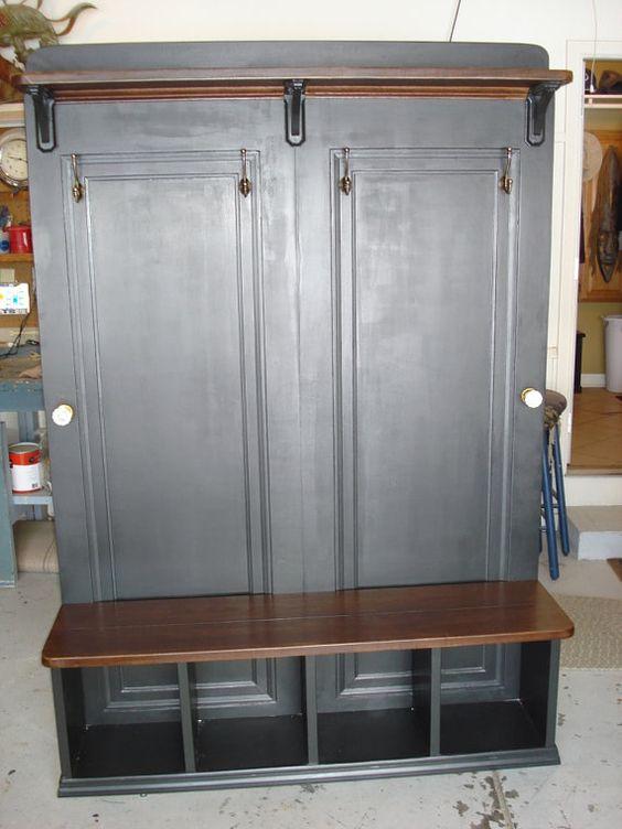 Custom Made Hall Way Tree Rack / Change Bench by KiserKreationsLLC, $1000.00