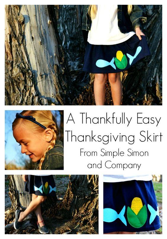 A Thanksgiving Skirt - Simple Simon and Company