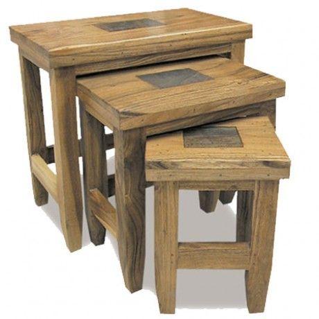 Slate Nest of 3 Tables