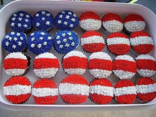cupcakes for the 4th