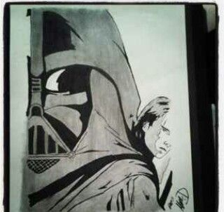 Star wars Darth vader anikan skywalker sketch drawing