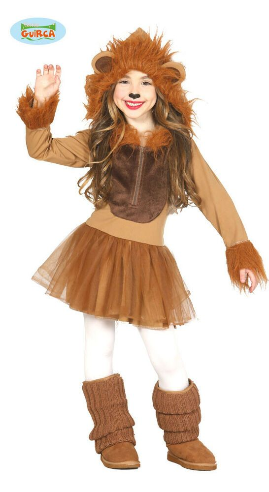 Boys Girls Lion Fancy Dress Costume Animal Zoo Jungle Childrens Book Day Outfit