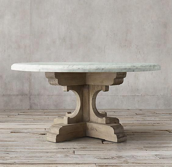 Rh S 17th C French Bastide Oak Marble Round Dining Table Evoking The Grandeur Of 17th Century Fren Round Marble Dining Table Round Dining Table Dining Table