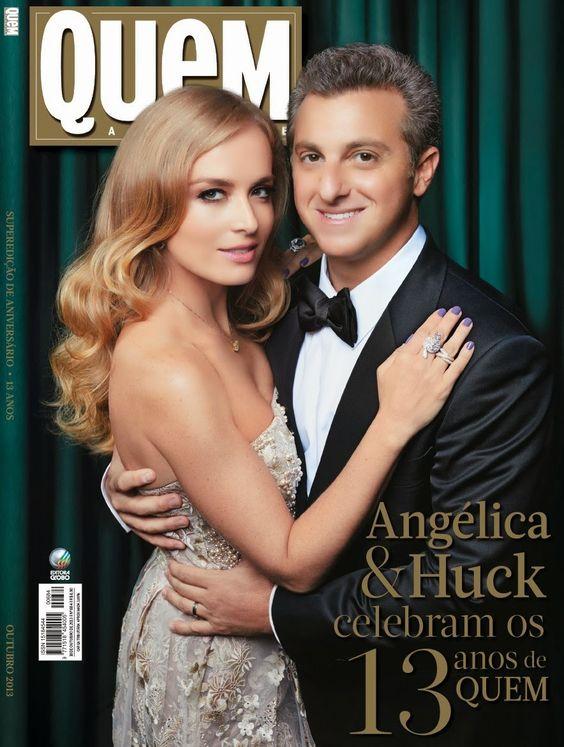 Angélica e Luciano Huck - Revista Quem