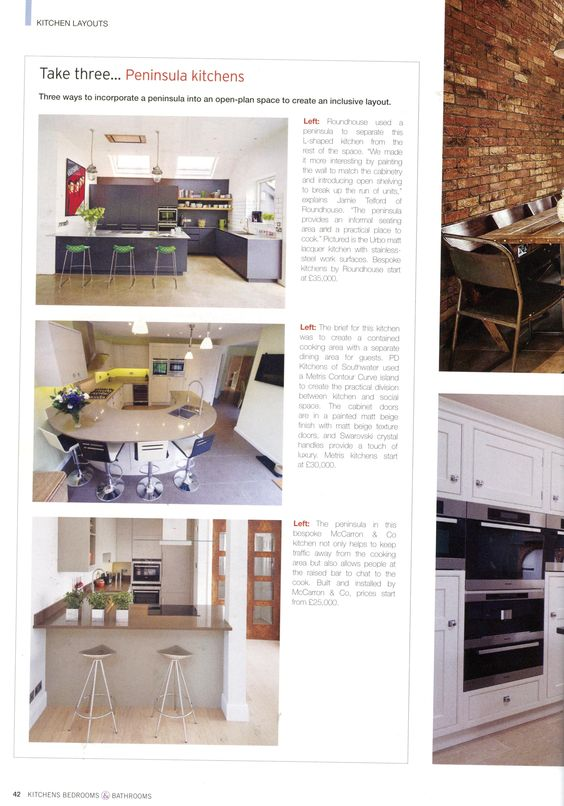 Bespoke open plan kitchen from Martin Moore martinmoore com Kitchens  Bedrooms   Bathrooms March 2015. Bespoke open plan kitchen from Martin Moore martinmoore com