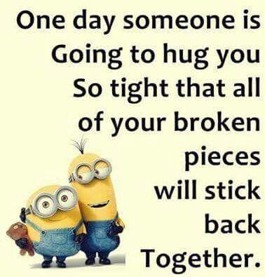 Minion hug