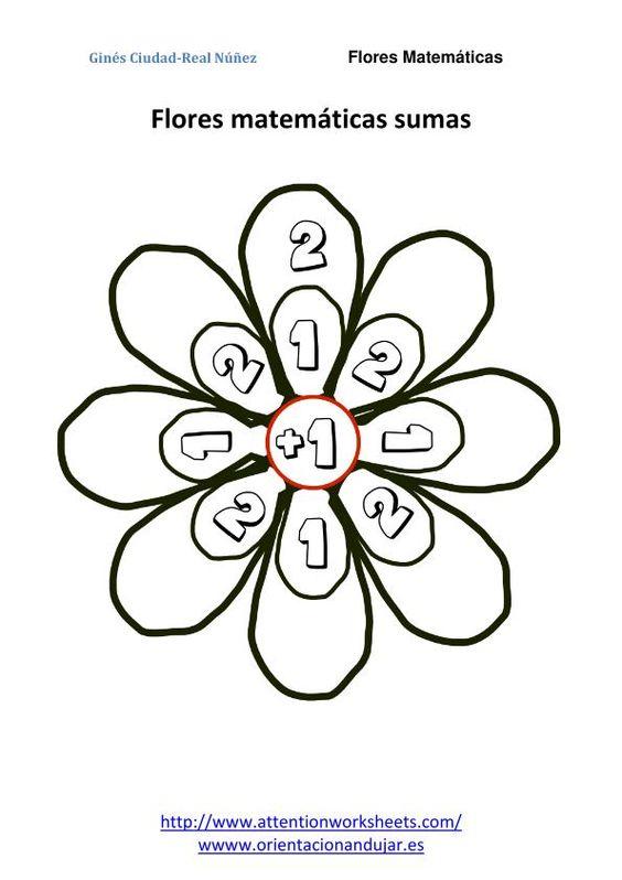 IMAGENES flores matematicas sumas nivel inicial 1 flor_02 | mate ...