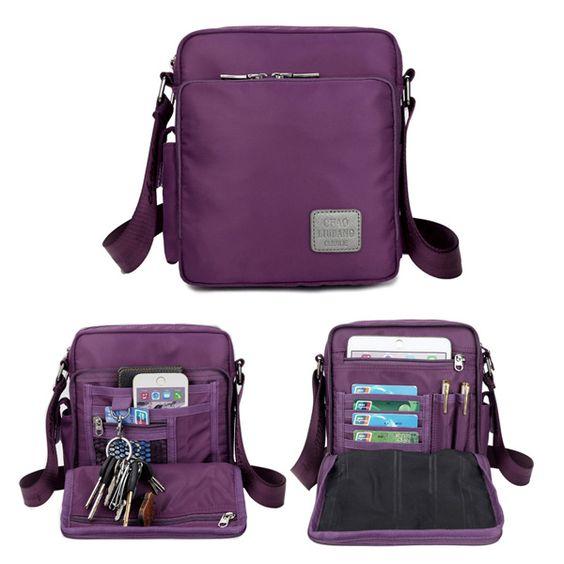 Waterproof Nylon Messenger Bag Multifunction Capacity Leisure Crossbody Bag - US$25.63