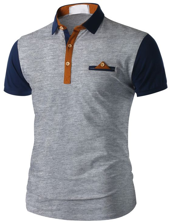 Pinterest the world s catalog of ideas for Short sleeve polo shirt with pocket