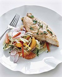 Red Snapper with citrus and fennel salad salad - Delicious when paired with August Kesseler Riesling R