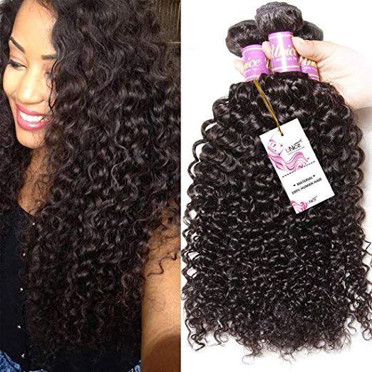 Unice Hair 3 Bundles Brazilian Curly Virgin Hair Weave 20 18 16 Inches Unprocessed Human Hair Extensions Natural Weave Hairstyles Virgin Hair Weaves Unice Hair