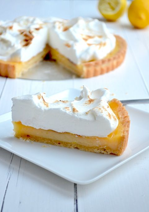 Citroen meringue taart - lemon pie #cake