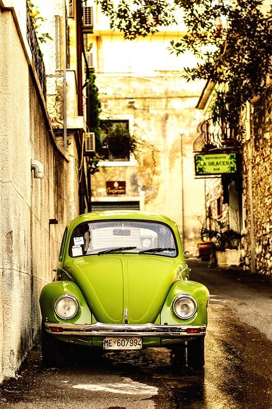 Sicily – Some Favorites, Some Impressions » delicious:days: Green Vw, Vw Beetles, Vw Bugs, Lime Green