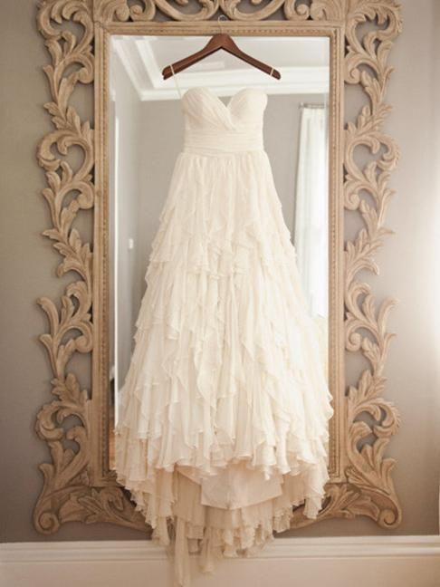 Shabby Chic Soft Chiffon Layers Wedding Dress Wedding Dresses