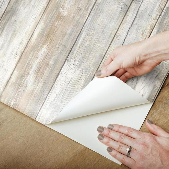 Distressed Wood Peel And Stick Wallpaper How To Distress Wood Peel And Stick Wallpaper Distressed Wood Wallpaper