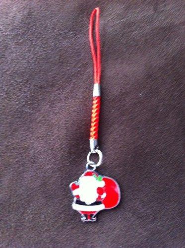 Santa Claus Keyring or Mobile Phone Charm