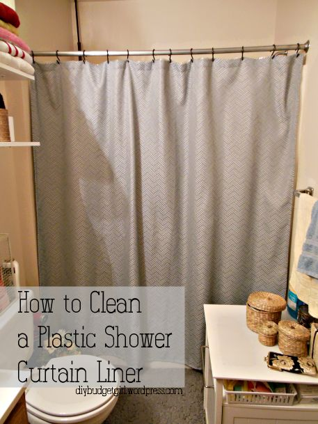 How To Clean A Plastic Shower Curtain Shower Curtains Plastic And Curtains