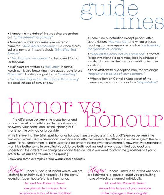 Wedding Invitation Etiquette Guide
