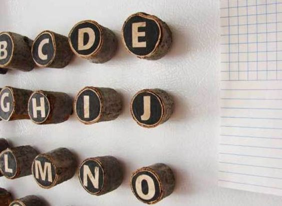Craft Of The Day: Make These Quirky Wooden Letter Magnets