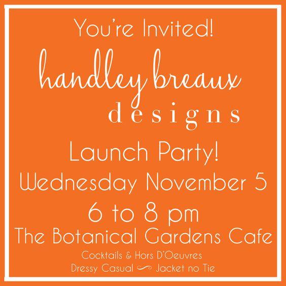 Handley Breaux Designs | Birmingham Wedding Planner | Alabama Wedding Planner | Handley McCrory | Launch Party Invitation