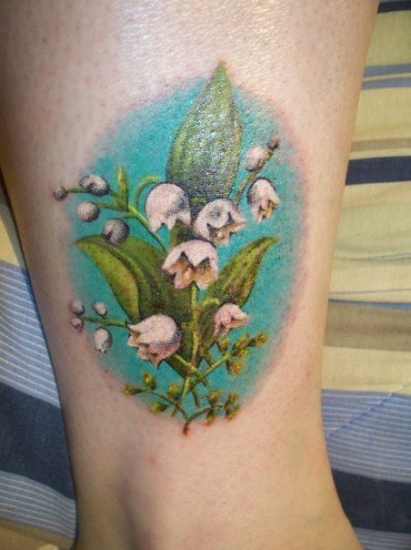 lily of the valley tat may birth flower tattoos