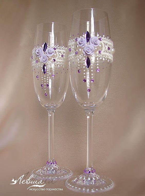 - Copas decoradas con velas ...
