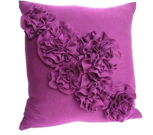 t-shirt ruffle pillow :) by annmarie
