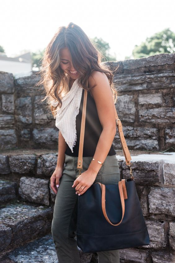 Leather tote fashionable – Trend models of bags photo blog