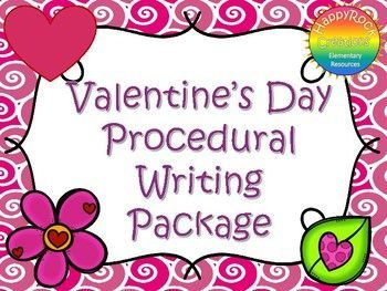 This Valentine's Day Procedural Writing Package includes a mini-lesson, Valentine's Day vocabulary activity, 5 procedural writing prompts, graphic organizer, Valentine's Day writing paper and a self-assessment checklist. Print and go - use with a Valentine's Day/winter activity OR as a stand-alone writing activity.