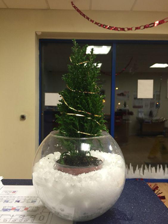 i created this mini christmas tree scene for my desk at the office i have christmas tree office desk