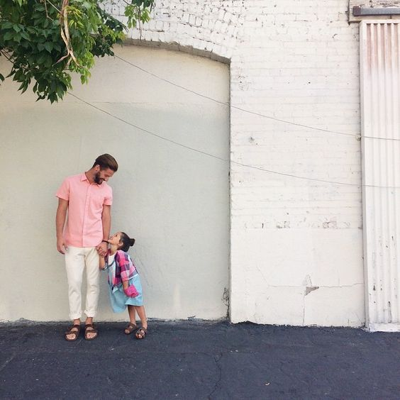 "Daddy-daughter duo for Zooey Magazine's ""Dressing Simple."" #zooeymagazine"