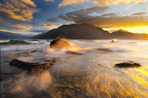 Summer Sunset Picture of Queenstown, New Zealand
