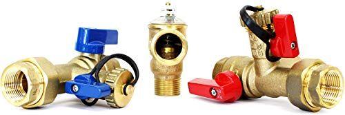 Buy Kahenian 3 4 Inch Tankless Water Heater Isolation Service Valve Flush Kit Pressure Relief Valve Fnpt X Fnpt 3 4 Service Installation Valve Rheem Rinnai In 2020 Tankless Water Heater Water Heater Relief Valve