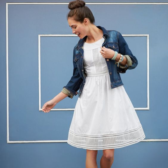 Denim jackets, The white and Spring on Pinterest