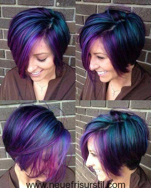 Cool Galaxy Haarfarbe Für Kurzes Haar Lila Frisuren