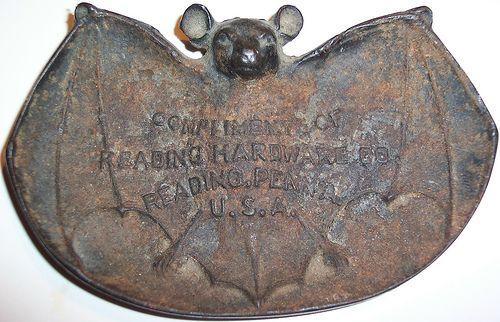 Vintage Metal Bat advertising piece for Reading Hardware Co