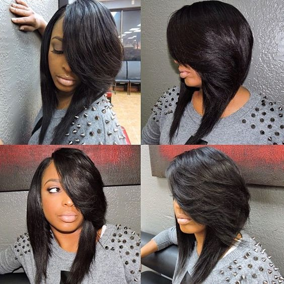 STYLIST FEATURE| Loving this long #quickweave bob✂️ install done by #Cleveland area stylist & educator @MadAboutMeechie❤️ So sexy| #Boblife #Weave #VoiceOfHair ========================= Go to VoiceOfHair.com ========================= Find hairstyles and hair tips! =========================