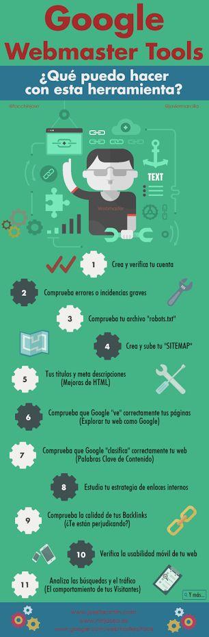 ¿Cuáles son las principales funciones de Google Webmaster Tools?