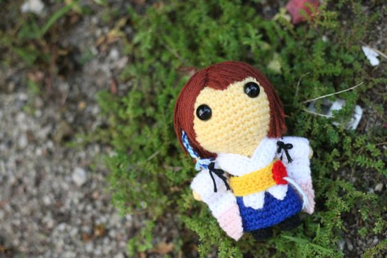 Yuna (Final Fantasy X) - Amigurumi crochet pattern (PDF File)