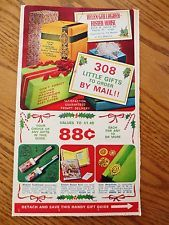 1968 Helen Gallagher Foster House Christmas Gift Sale Catalog Peoria Illinois IL