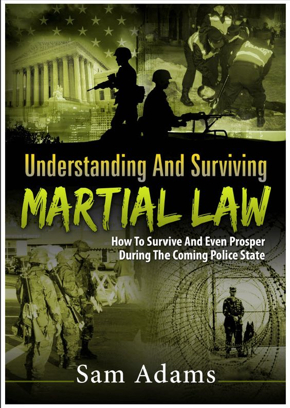 Don't be unprepared Martial law - Understanding And Surviving Martial Law book cover.