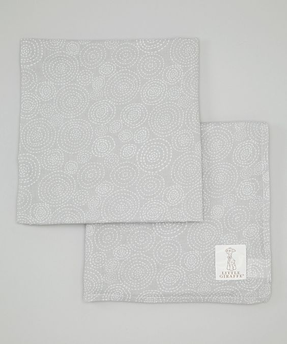 Look at this Silver Muslin Swaddle Blanket - Set of Two on #zulily today!