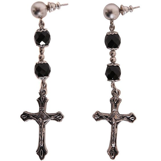Givenchy Rosary earrings (16,575 DOP) ❤ liked on Polyvore featuring jewelry, earrings and black