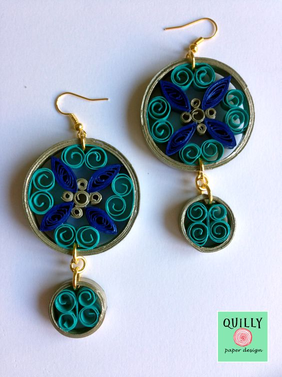 """Paper Earrings """"Arabesco_06"""" by QuillyPaperDesign"""