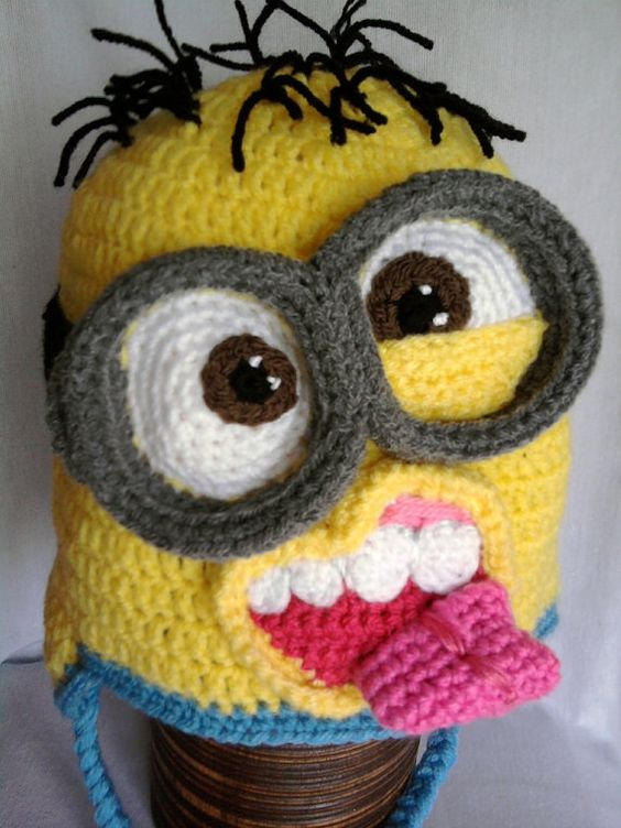 Minion inspired crochet hats PATTERN 12 months to adult-sized by ...